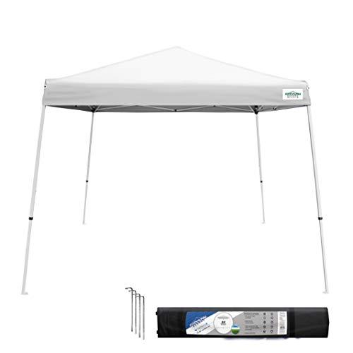 Caravan Canopy V-Series 2 Slant Leg 10 X 10 Foot Canopy Kit, White (Best Ez Up Canopy For Camping)
