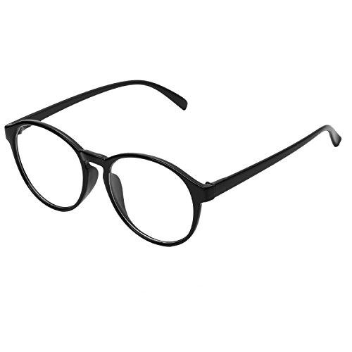 Forepin® Lunettes Rondes Vintage pour Femme et Homme Montures Lunettes de  Vue Cadre Frame Lentille 5bc509b567a1