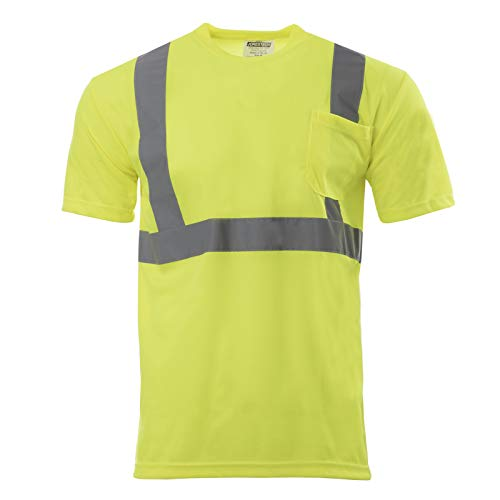 JORESTECH Safety T Shirt Reflective High Visibility Short Sleeve Yellow/Lime ANSI Class 2 Level 2 Type R TS-01 (3XL)