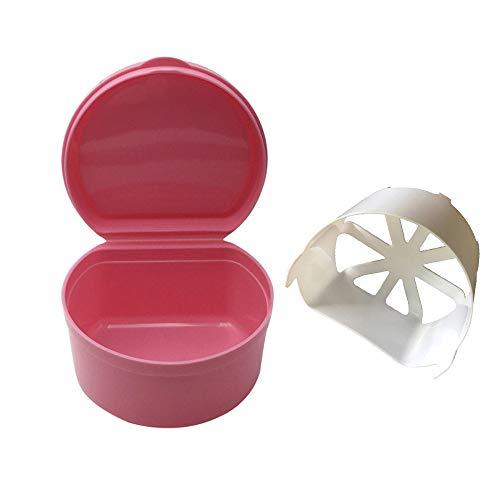 - Denture Bath Box Case Dental False Teeth Storage Box with Hanging Net Container