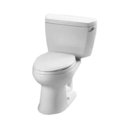Toto CST744ERBNo.01 Eco Drake Toilet 1.28-GPF with Right Hand Trip Lever and Boltdown Tank Lid Cotton by TOTO