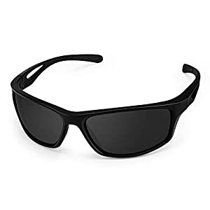 Sports Sunglasses, CHEREEKI Polarized Glasses Eyewear with UV400 Protection & TR90 Unbreakable Frame For Men Women Cycling Running Fishing Golf Driving Running