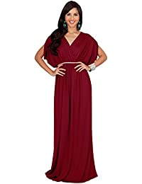 e61a2d1aeb321 Womens Long Dolman Sleeve Wrap V-Neck Maternity Bridesmaid Maxi Dress