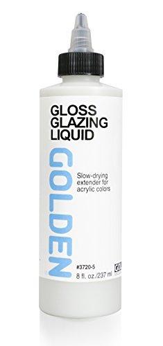 - Golden Acrylic Glazing Liquid Gloss - 8 oz Bottle