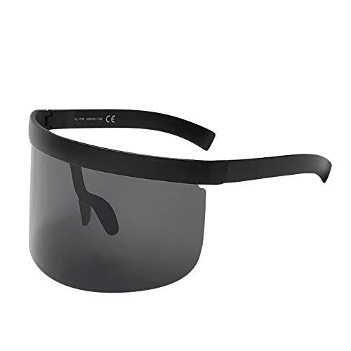 Pausseo Unisex Women Men Retro Oversized Frame Eyewear Fashion Mirror Sunglasses Anti-Peeping Lightweight Frame Summer Glasses Eyewear Running Cycling Fishing Driving Hiking Radiation ()