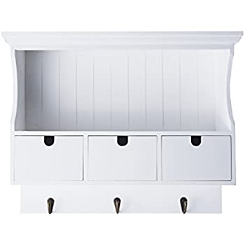 Amazon Com Melannco Bead Board Storage Unit With Hooks