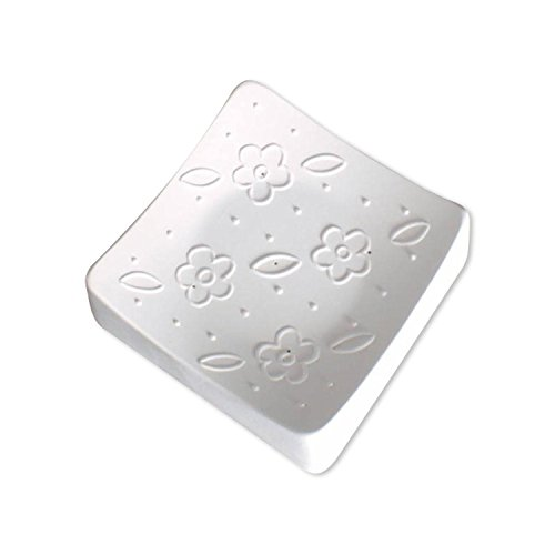 4-1/2 inch Square Flower Texture Mold