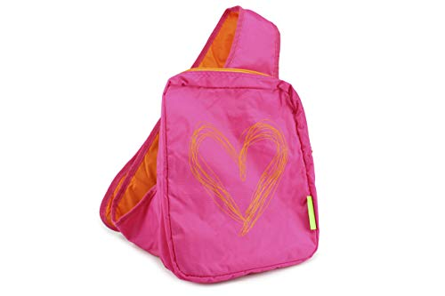 Agatha Ruiz De la Prada Backpack Pink Heart Sling Style Girls Backpack -