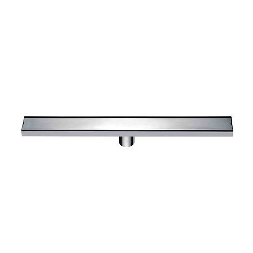 ULING D002-3 Linear Shower Floor Drain With Tile Insert Grate - Made Of SUS304 Stainless Steel , 23.6 Inch Long - Brushed Stainless -  NC Home set