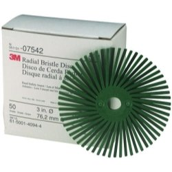 Scotch-Brite™ 3'' Radial Bristle Discs 50 grade Coarse Green (MMM7542) Category: Grinding Discs and Holders