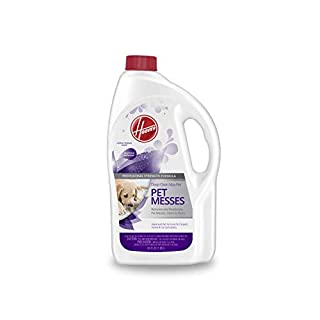 Hoover Max Deep Cleaning Carpet Shampoo, Concentrated Machine Cleaner Solution for Pets, 64 oz Formula, AH30821, White