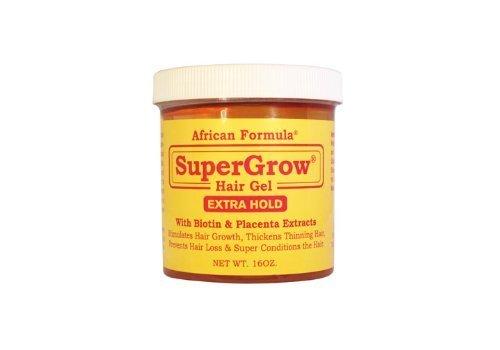 African Formula SuperGrow Hair Gel Extra Hold 16 oz (Genuine African Formula Super Grow Hair Gel)