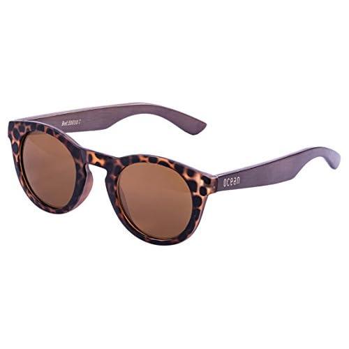 Ocean Sunglasses San Francisco Lunettes de soleil Demy Brown Frame/Wood Dark Arms 73akYL7IhD