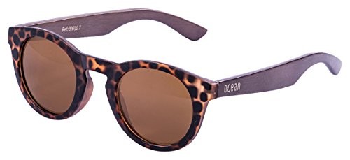 Ocean Sunglasses San Francisco Lunettes de soleil Demy Brown Frame/Wood Dark Arms