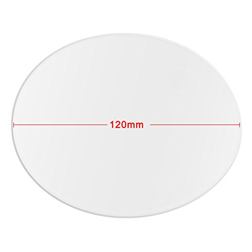 Wisamic Clear Borosilicate Glass Heat Bed Round 120mmx3mm for 3D Printers Mini Delta, etc by Wisamic