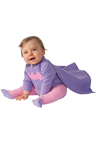 Infant Girl Superhero Costumes (Rubie's Costume Baby Girl's DC Comics Superhero Style Baby Batgirl Costume, Multi, 0-6 Months)