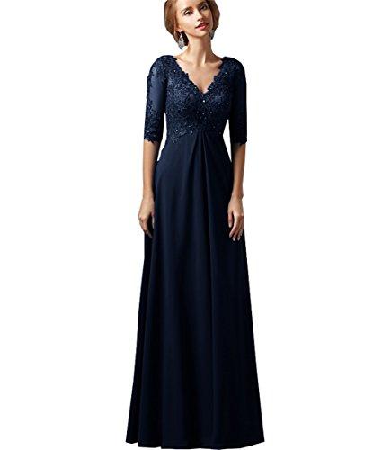 WHZZ Lace Applique Long Mother of The Bride Dress Women