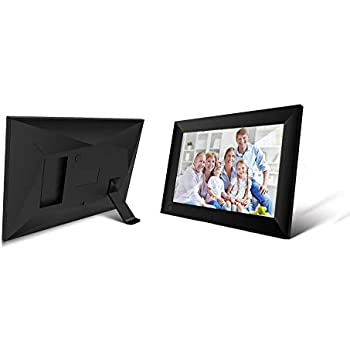Black Touch Screen email Photos from Anywhere 10.1 Inch 16GB Smart WiFi Cloud Digital Picture Frame with 800x1280 IPS LCD Panel Portrait and Landscape Wall-Mountable