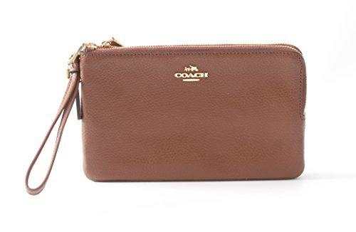 Pebble Leather Wristlet - Coach Double Zip Pebble Leather Wristlet Wallet