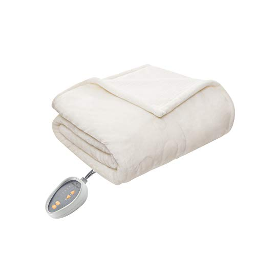 Berber Blanket Fleece (Woolrich Elect Electric Blanket with Two 20 Heat Level Setting Controllers, Queen: 84x90, Ivory)