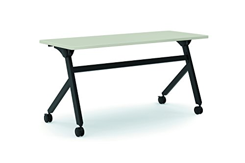 basyx by HON Flip Base Multi-Purpose Table, 60-Inch, Light Gray/Black (HBMPT6024P) - Hon Utility Table