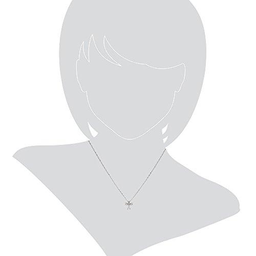 Gioiello Italiano Collier en or blanc 14carats Pendentif croix