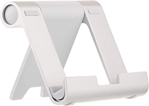 AmazonBasics Multi-Angle Portable Stand for iPad Tablet, E-reader and Phone – Silver