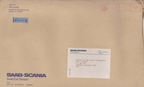 1975 Saab Sweden ORIGINAL EMPTY Factory Mailing Envelope for sale  Delivered anywhere in USA