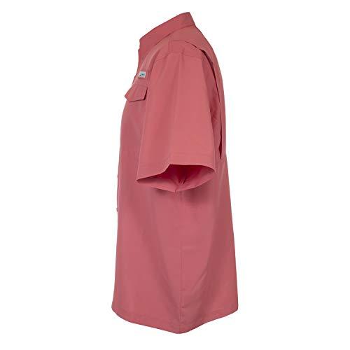 HABIT Men's Short Sleeve Fishing Guide Shirt, Tea Rose, XXXX-Large