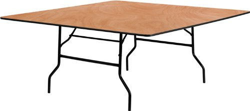 - Flash Furniture 72'' Square Wood Folding Banquet Table