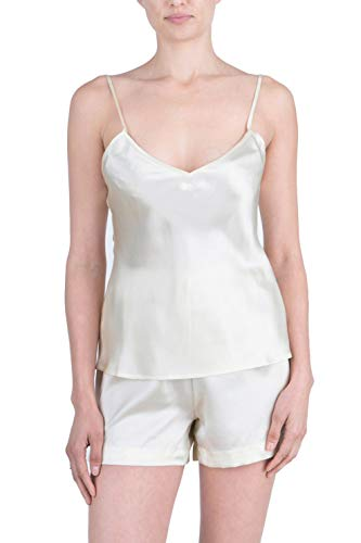 - OSCAR ROSSA Women's Luxury Silk Sleepwear 100% Silk Camisole and Shorts Lingerie Set Ivory