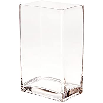 Amazon Wgv Clear Rectangle Block Glass Vase 2 By 5 By 6 Inch