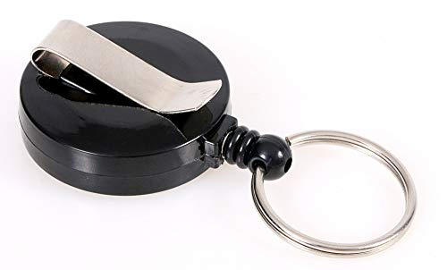 OPUS 2 Recoil Key Ring with Strap Clip, 121282, Black, 10 Pack. (Strap Opus)