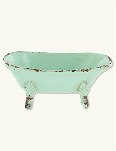 (Victorian Trading Co. Green Clawfoot Tub Trinket Dish)