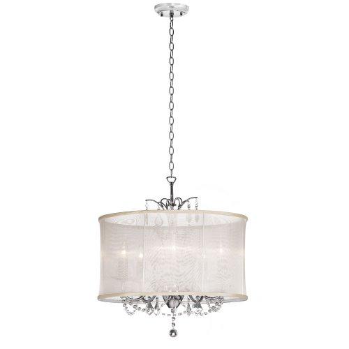 Dainolite Lighting VNA205117 4 Light Crystal Chandelier,
