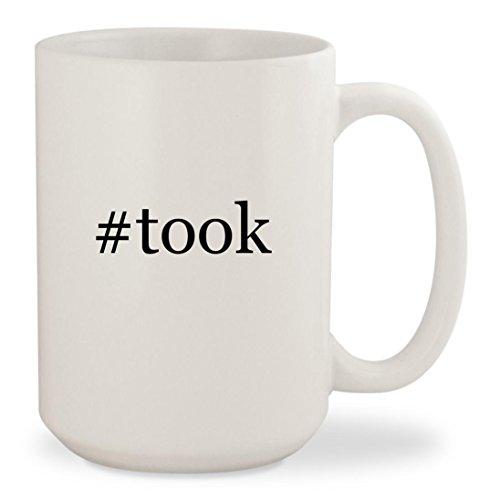#took - White Hashtag 15oz Ceramic Coffee Mug Cup
