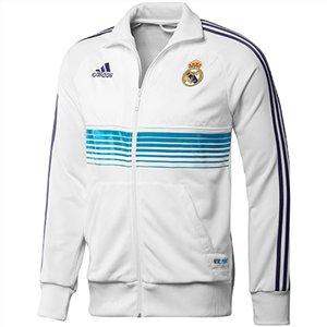 adidas REAL ANT JKT - Chaqueta de fútbol para hombre - tamaño: s, color: blanco/turquesa: Amazon.es: Ropa y accesorios
