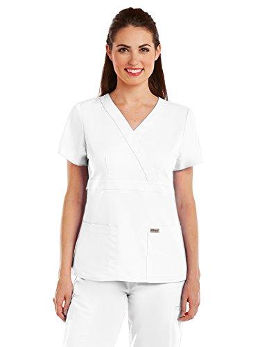 Grey's Anatomy Womens Scrubs, White, Medium