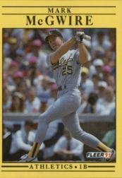Amazoncom 1991 Fleer Baseball Card 17 Mark Mcgwire Collectibles