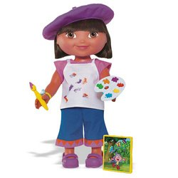 Fisher-Price Dora the Explorer: Dress-Up Adventure - Artist Outfit - Dress Doll Up Dora