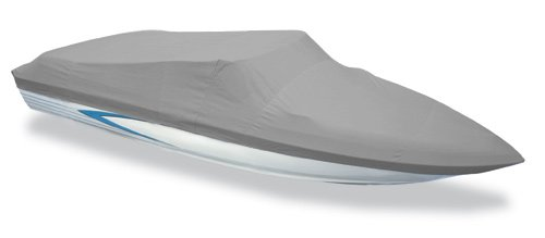 - Styled to Fit Boat Cover, V-Hull Runabout Boat with Walk-Thru Windshield and Bow Rails, O/B Motor - Length:22'6