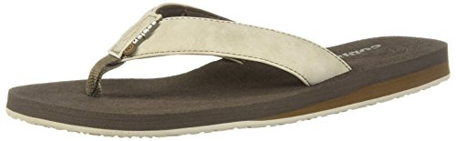 Cobian Eva Sole Sandals - Cobian Men's Floater Flip-Flop, Bone, 10 M US