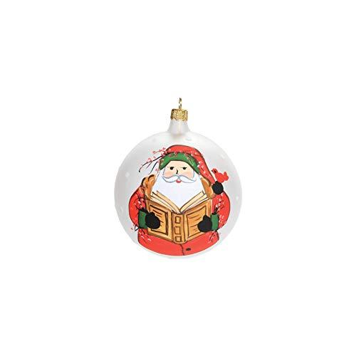 Vietri Old St. Nick Reading Ornament (Christmas Ornaments Vietri)