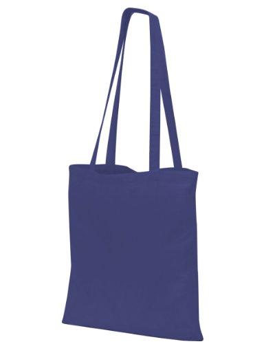 Shugon Suntime-Shopper in cotone-Borsa a tracolla con manico, lunghezza 80 cm, Nero,