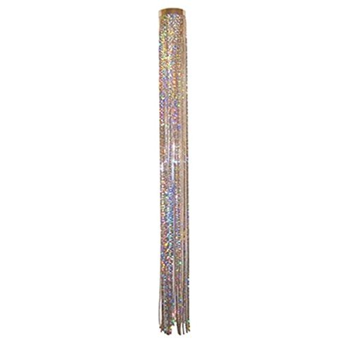 Mylar Streamer - 51 Inch Holographic Glitter Streamers Windsock, Silver Color