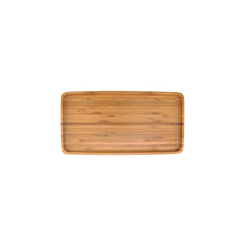 Organic Bamboo Tea Serving Tray - Rounded Edges - 11