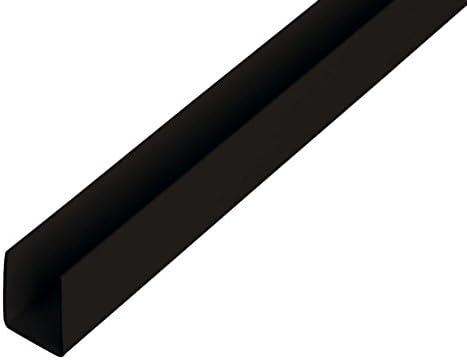 Stahl U-Profil schwarz L/änge 500mm 62x45x4mm rundkantig