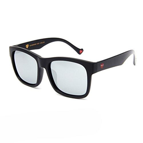 Korea black ultra-polarized sunglasses big face myopic sunglasses men's driving glasses men's personality,C1 matte polarized mercury mirror
