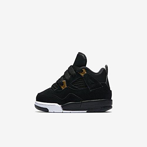 Boys' Toddler Jordan Retro 4 Basketball Shoes 308500-032 Black/Metallic Gold/White (10c) by Jordan