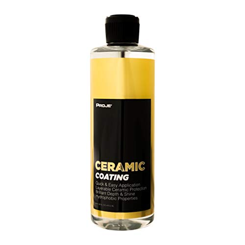 PROJE' Ceramic Coating - Protective Hydrophobic Weatherproof Sealant for Cars - Nano Technology - 9H Hardness - Clear, High-Gloss Shine - 16 Ounces